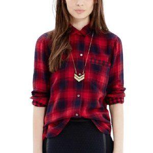 Madewell Ex-Boyfriend red Albion Plaid shirt